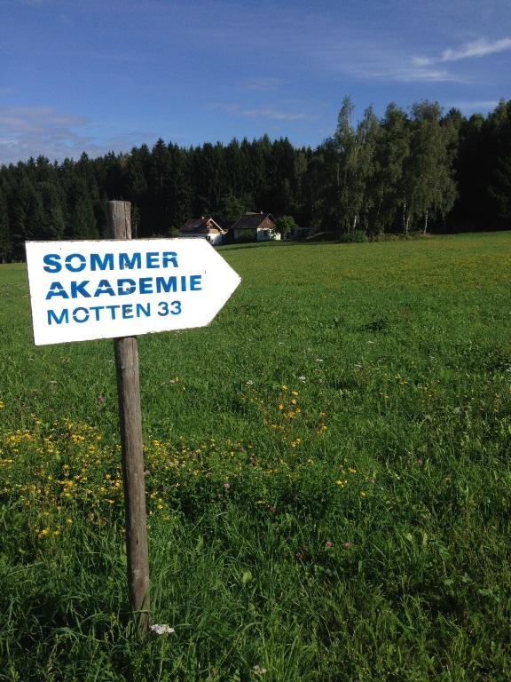Auf zur Sommerakadmie nach Motten: Nächstes Jahr möchte ich gerne wieder an einem der vielfältigen Seminare teilnehmen!